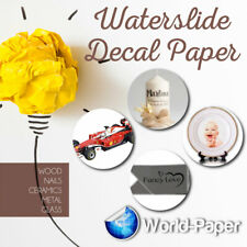 Inkjet Clear Waterslide Water slip Decal Paper 8.5 x 11, 5 sheets :)