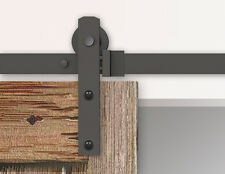 5/6/10FT Black rustic sliding barn door hardware straight roller sliding track