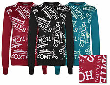 Ladies Womens NEW Printed Sweatshirt Jumper HOMIES Quilted Top Fitted Design S-L