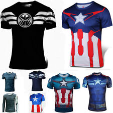 Captain America T Shirt Winter Soldier Agents Of Shield Avengers Ultron Costume