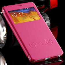 Luxury PU Leather Wallet Cover Full Flip Phone Case For Samsung Galaxy Note 4