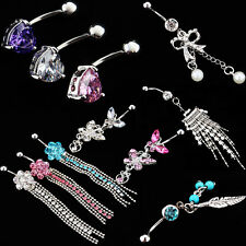 Surgical Body Piercing Jewelry Stainless Steel Navel Belly Button Bar Ring Gifts