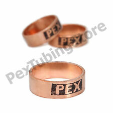 """1/2"""", 3/4"""" or 1"""" PEX Copper Crimp Rings by Sioux Chief, Made in USA, ASTM F1807"""