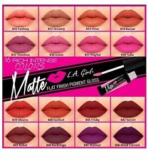 L.A. LA Girl Matte Lip Gloss GLG, Flat Finish Matte Pigment Gloss - Pick Any 1