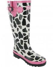 Cotswold MOO WELLINGTON Womens Ladies Waterproof Welly Wellies Boots Black/White