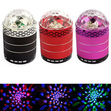 Voice Control 4LED Speaker Disco RBG Stage Effect Light MP3 MP4 Audio Player Pop