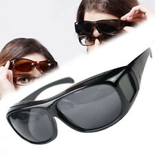HD Night Vision Unisex Driving Sunglasses Nice Over Wrap Around Glasses