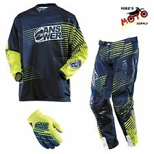 Answer Racing A14 Elite Pant/Jersey/Glove Combo Blue/Green