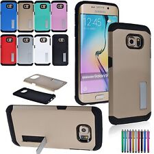 For Samsung Galaxy S6 Edge Shockproof Stand Hybrid Impact Case Rugged Thin Cover