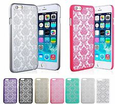 New Hard Back Damask For IPhone 6 Apple Samsung Galaxy S5 Case Cover Transparent