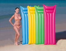 INFLATABLE MATTE LILO LOUNGER FLOAT BEACH SWIMMING POOL AIR MAT BED 4048