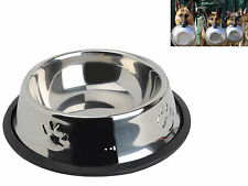 Pet Food Dish Bowl Feeder Stainless Steel Water Container Feeder for Cat Dog L M