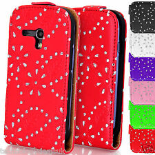 Bling Diamanté Leather Diamond Flip Case Cover For Samsung Galaxy S3 Mini i8190