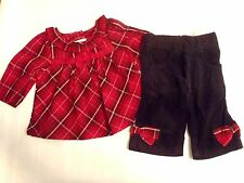 GYMBOREE 0-3 6 18 24 Month Choice Holiday Traditions Pant Shirt Outfit NWT