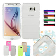 Colorful Bullet-proof Vest TPU Rubber Back Case Cover For Samsung Galaxy S6 DB2