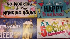 1 Drinking / Party Themed Highland Graphics Wood Sign USA Made You Pick - Wooden
