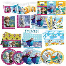 DISNEY FROZEN PRINCESS BIRTHDAY PARTY TABLEWARE CUPS NAPKINS PLATES TABLECOVERS