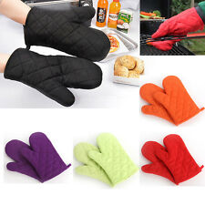 1Pair Cotton Thick Double Kitchen Baking Cook Insulated Padded Oven Gloves Mitt