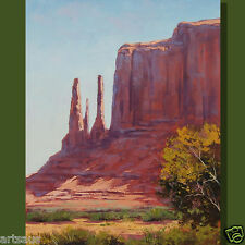 Desert Oil Painting Three Sisters Utah Canyon Landscape Southwestern Fine Art