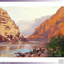 Grand Canyon Painting Arizona Desert Landscape Original Southwestern Oil Art
