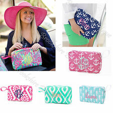 """10"""" PERSONALIZED ACCESSORY WRISTLET BAG: COSMETICS, BEACH: GREAT 4 BRIDESMAIDS!"""