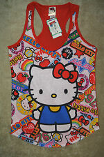 HELLO KITTY  Women's JR  Tank T-shirt Tee Top XS S  Red