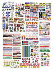 1:43 FORD, CHEVY DECALS FOR MATCHBOX , SMALL MODELS & DIORAMAS