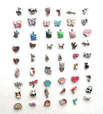 Floating Charms-Dolphin-Horse-Panda-Dog-Cat-Hummingbird-Owl-Butterfly-Paw