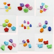 Hot Assorted Color Acrylic Charms European Beads Jewelry Makings Crafts Lots J
