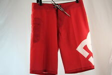 """DC SHOES """"DCFS LANAI"""" SOLID RED SWIM/SURF/BOARD SHORTS size 30/31/33"""