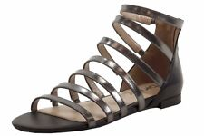 Donna Karan DKNY Women's Fay Black Gunmetal Fashion Sandals Shoes