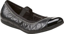 Clarks Dance Pop Tod Girl's Flats Black Leather Shoes Style# 26061914