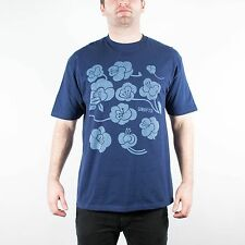 UNDEFEATED FLOWER TEE SHIRT NAVY UNDFTD PLAY DIRTY