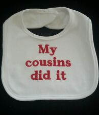 Personalised Baby Gifts - Baby Bibs- Gift/ My cousins did it/ any colour