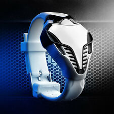 LED Digital Watch Men's Fashion Cobra Triangle Dial Silicone Sports Watches
