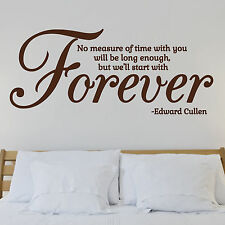 Forever, l'amour, twilight, Edward Cullen, wall sticker, autocollant, Wallart, SS220