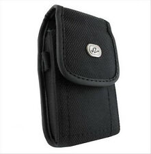 Vertical Canvas Case Cover Pouch Belt Clip with Loop for Verizon Cell Phones