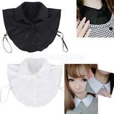 Women Girls Fake Half Shirt Blouse Collar Detachable Cotton Costume Accessroy