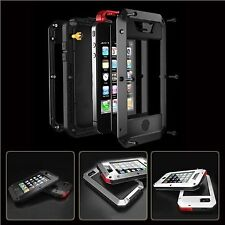 Waterproof Shockproof Aluminum Glass Case Cover For iPhone 5, 5S, 5C, 6, 6 PLUS