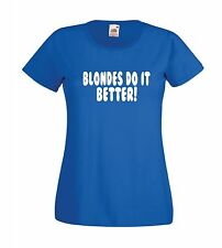 BLONDES funny party present xmas birthday gift idea mens womens adult TSHIRT TOP