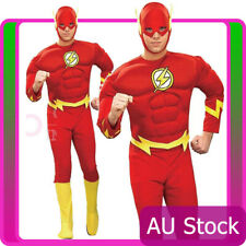 Adults Mens The Flash Muscle Chest Costume Justice League DC Comics Fancy Dress