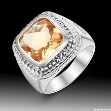 Neutral Fashion Jewelry Morganite S80 Silver Gemstone Ring size 7 8 9