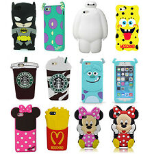 3D Cartoon Superhero Soft Silicone Rubber Case Cover For Apple Samsung LG Moto G