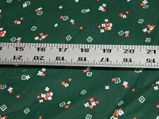 Vintage Forest Green Floral Quilting Cotton Fabric 1 3/4 Yard 14188