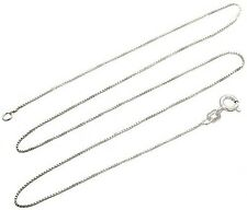 Sterling Silver Necklace BOX Chain 925 Italy .8mm 16 to 24 IN inches USA SELLER