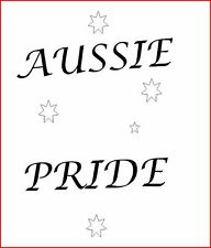 Aussie Pride Southern x Cut Vinyl Decal Sticker Sign Wall Art Car Window Laptop