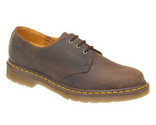 MENS DM DR MARTENS 1461 LEATHER 3 EYE OILY BROWN LACE FORMAL CASUAL SHOES UK7-12