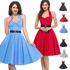 *50s ROCKABILLY DRESSES* Vintage Hepburn Swing Pinup Housewife Party Cos Dress
