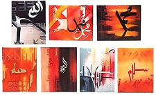 Islamic Gift Canvas Wall Art Hand painted Acrylic Oils Modern Arabic Calligraphy