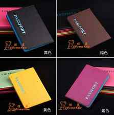 Fashion litchi stripe Passport Holder Protector Cover Wallet PU Leather Cover